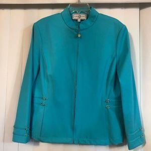 St John Sport By Marie Gray Pool Blue Sport Jacket